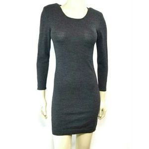 Theory P/TP Sweater Dress Wool Blend Fitted